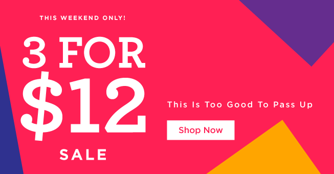3 for $12 (Homepage)