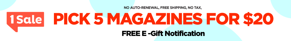 Select 5 Magazines for $20