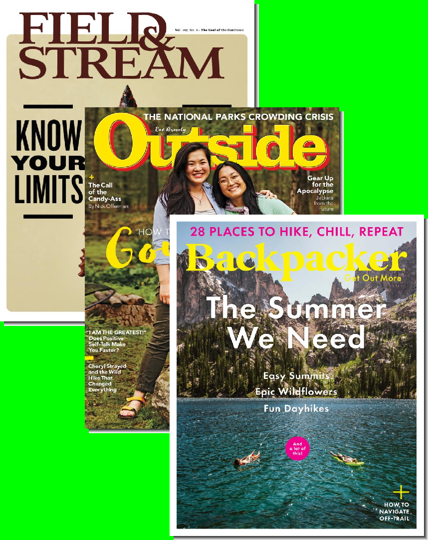 Outside, Backpacker & Field & Stream Bundle