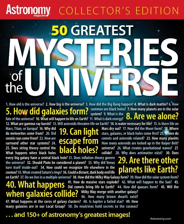 50 Greatest Mysteries In The Universe Digital
