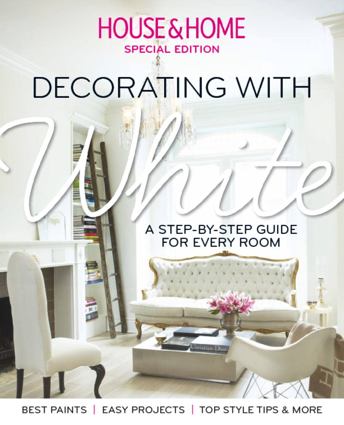 House home decorating with white magazine digital for Create and decorate magazine free