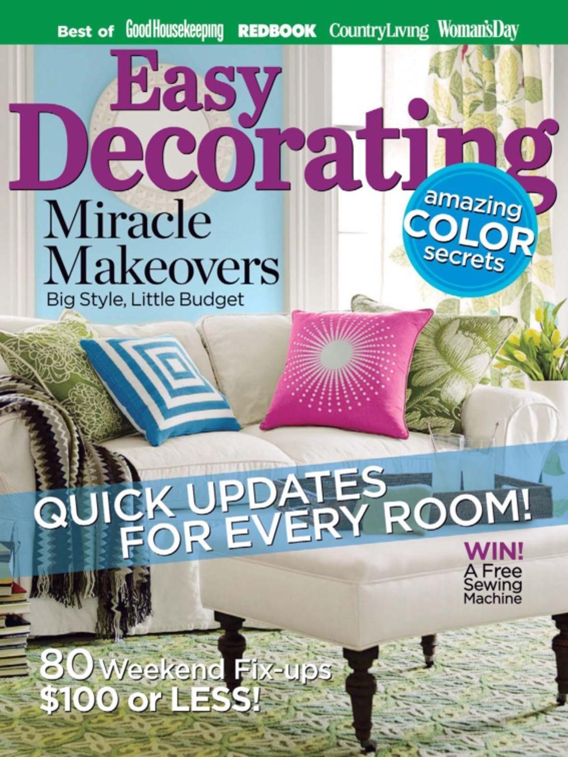 Easy Decorating Ideas Magazine (Digital) - DiscountMags.com