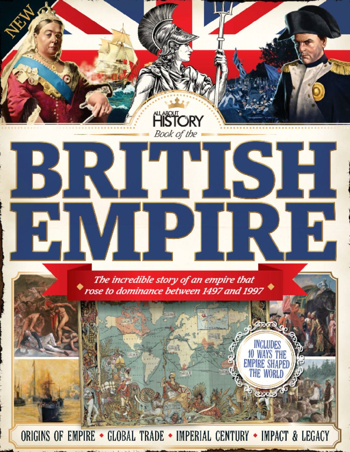 the history of the british empire The british empire comprised the dominions, colonies, protectorates, mandates and other territories ruled or administered by the united kingdom and its predecessor states it originated with the overseas possessions and trading posts established by england between the late 16th and early 18th centuries at its height, it.