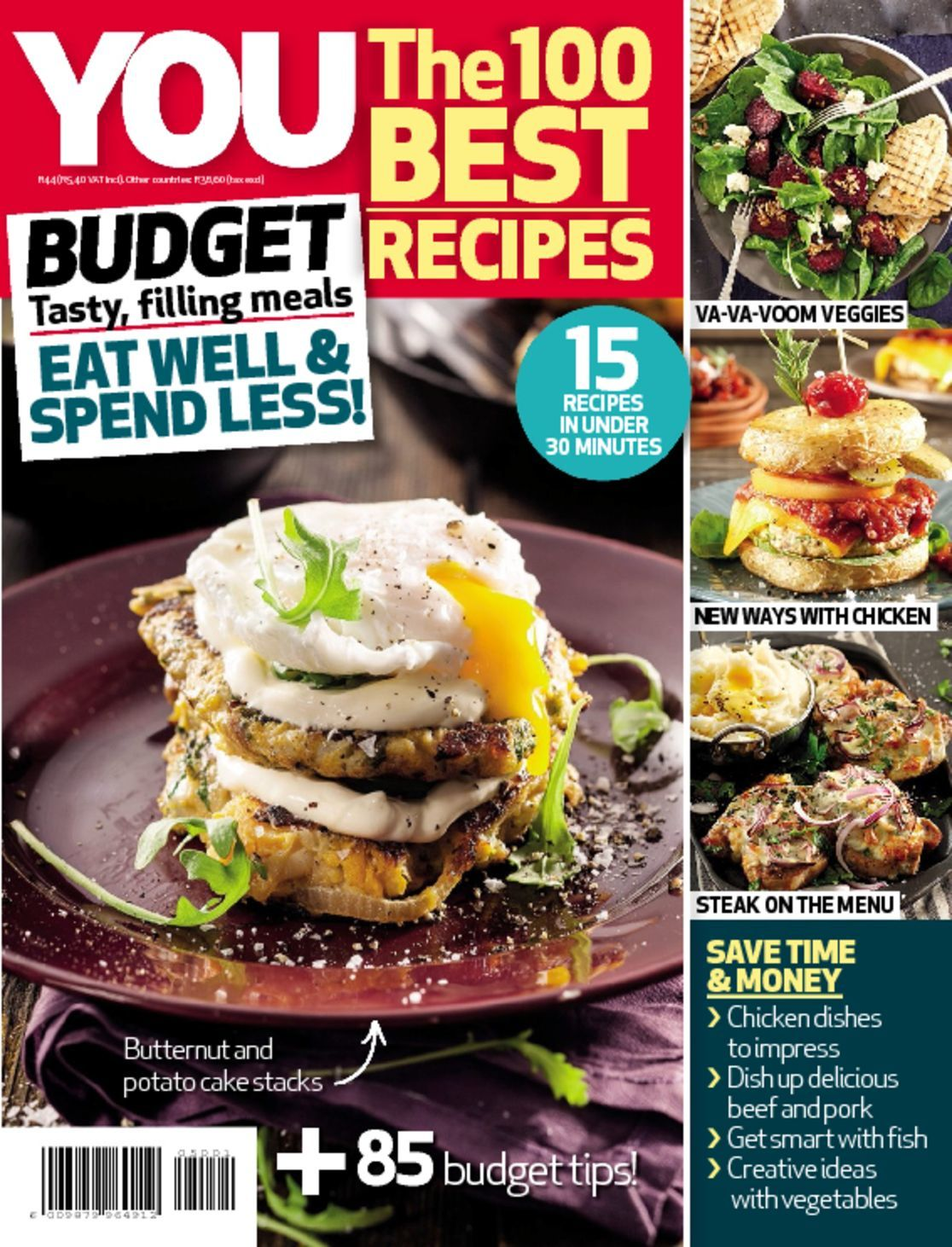 YOU The 100 Best Recipes Budget Digital