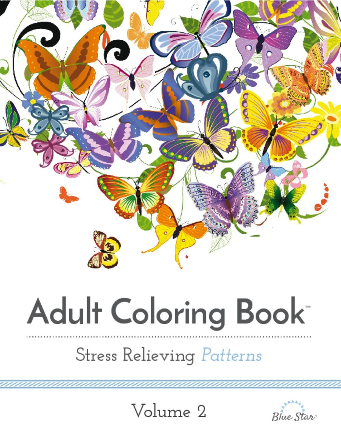 Adult Coloring Book Stress Relieving Patterns Volume 2 Digital