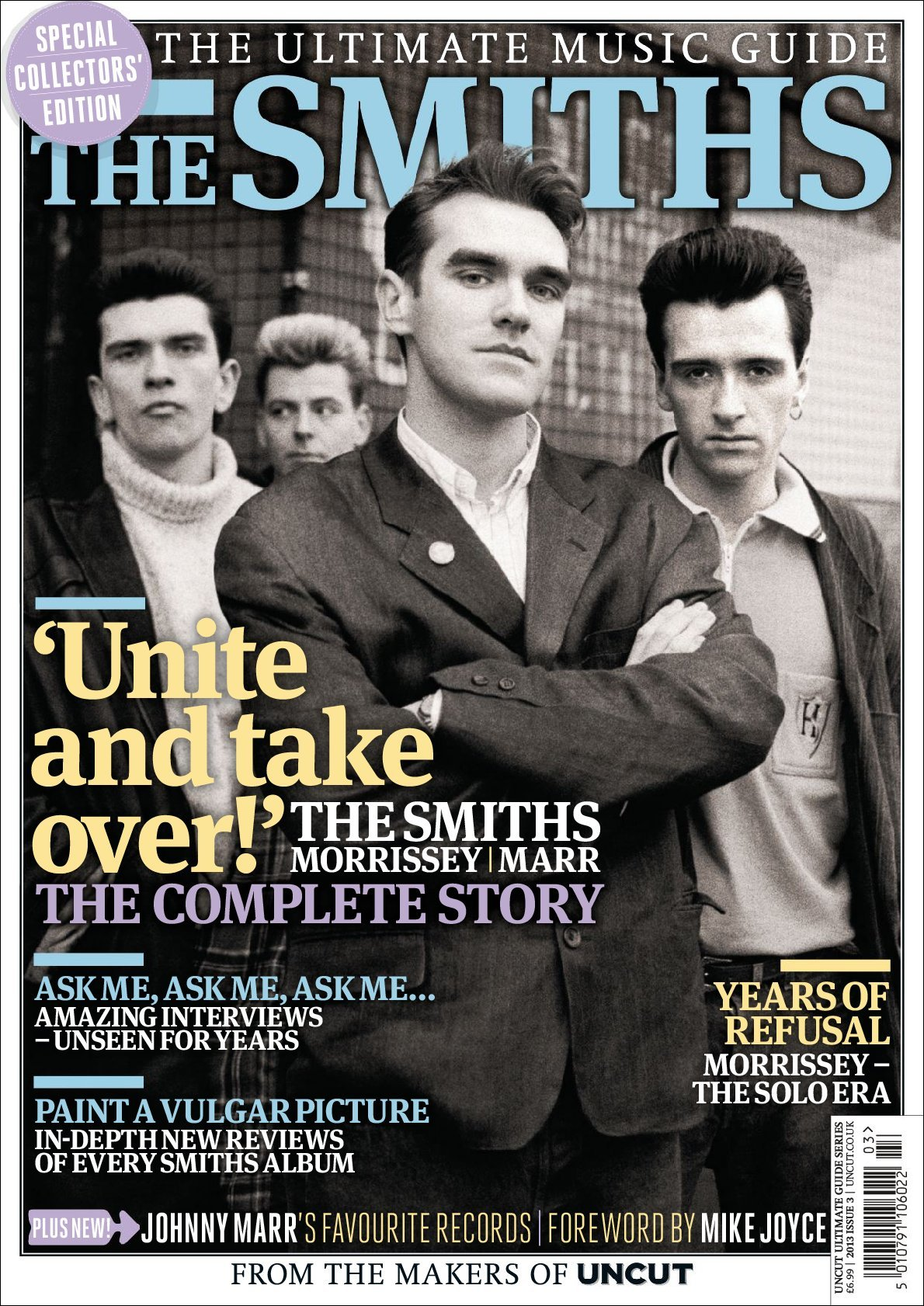 The Smiths Shirt Uk Indie Rock Band Screenprint Women By: Uncut Ultimate Music Guide: The Smiths Magazine (Digital