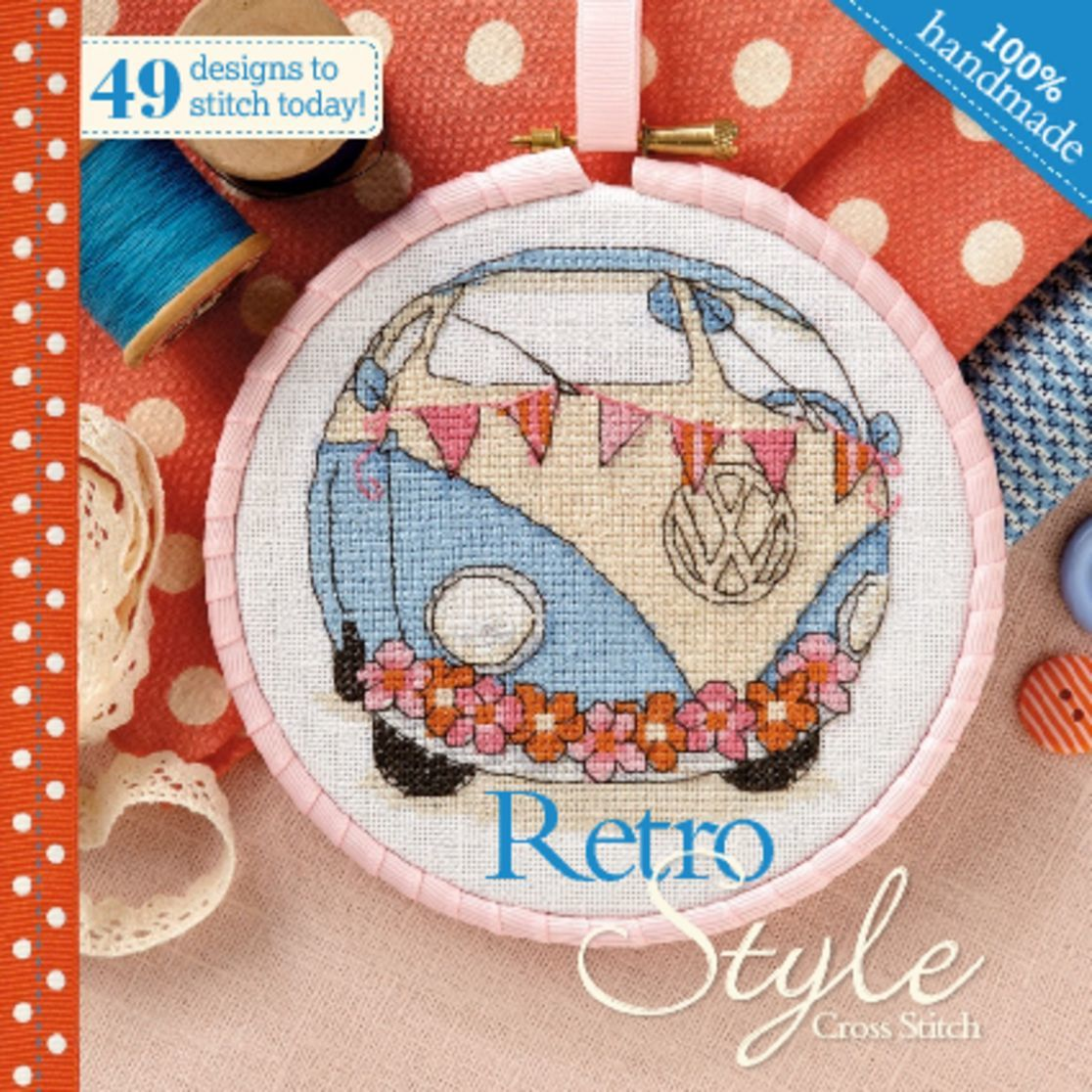 Retro Style Cross Stitch Digital