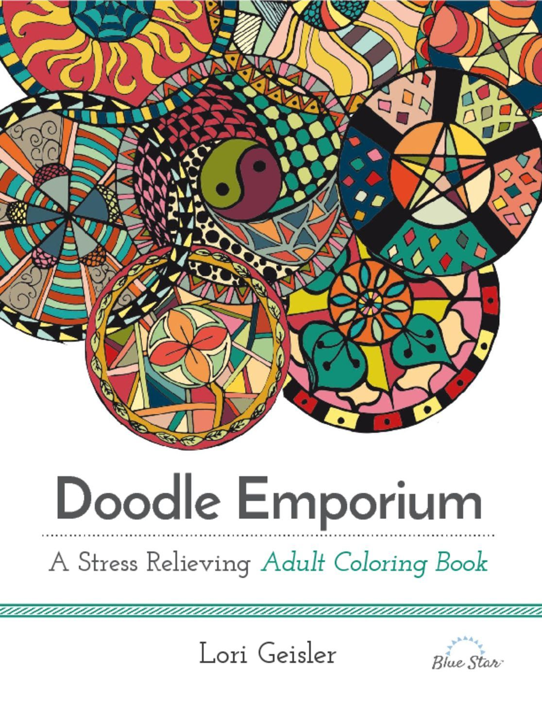Doodle Emporium A Stress Relieving Adult Coloring Book Digital