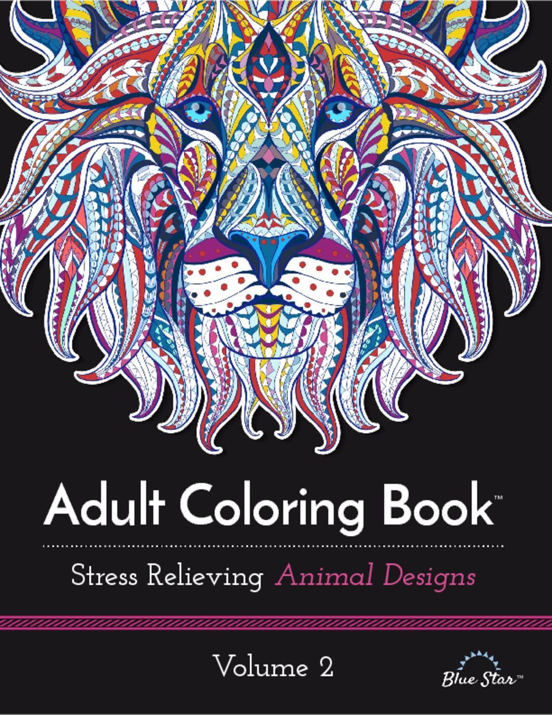 Adult Coloring Book Stress Relieving Animal Designs Volume 2 Digital