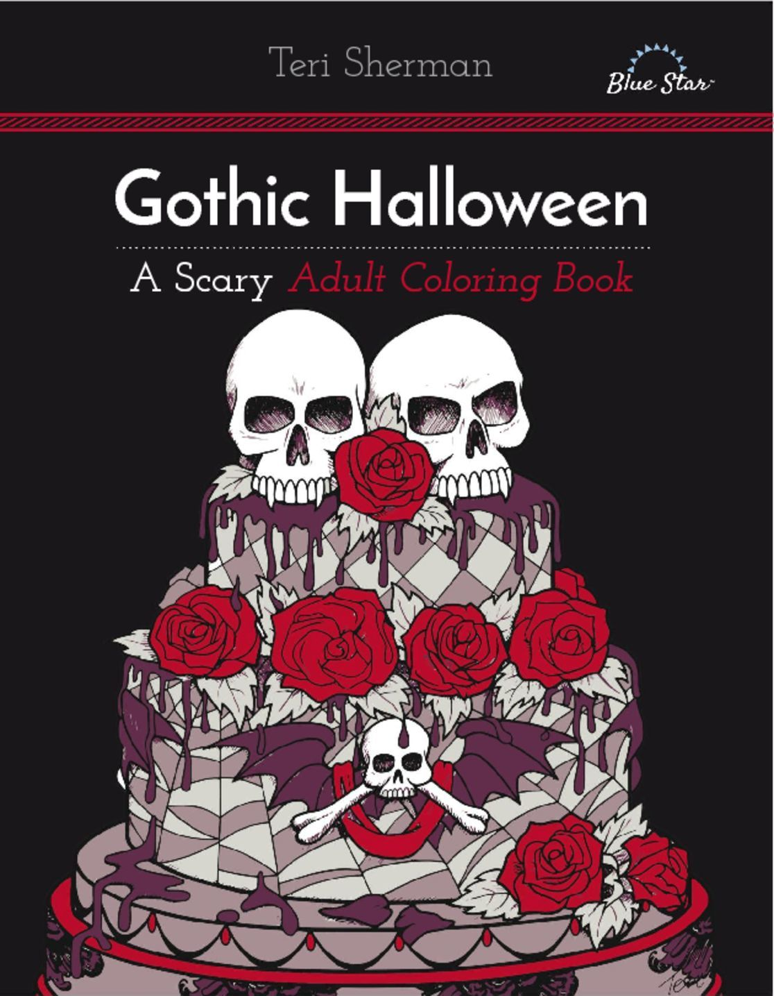 Gothic Halloween A Scary Adult Coloring Book Digital
