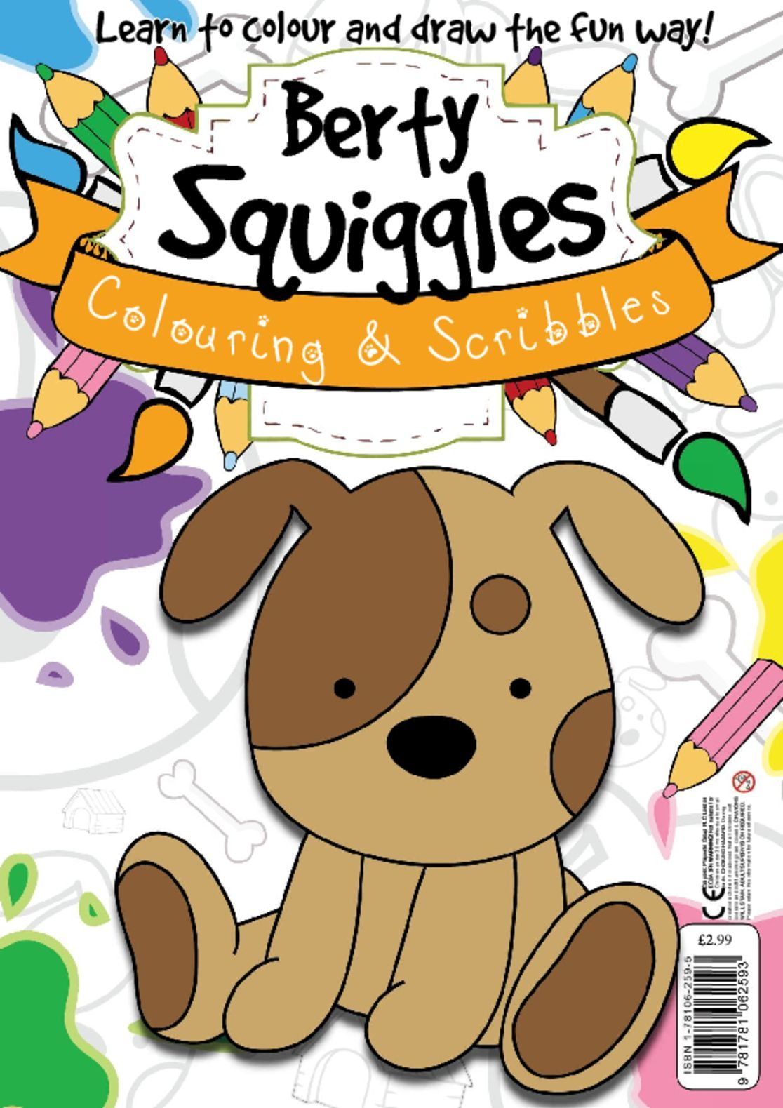 Berty Squiggles Colouring Scribbles Digital