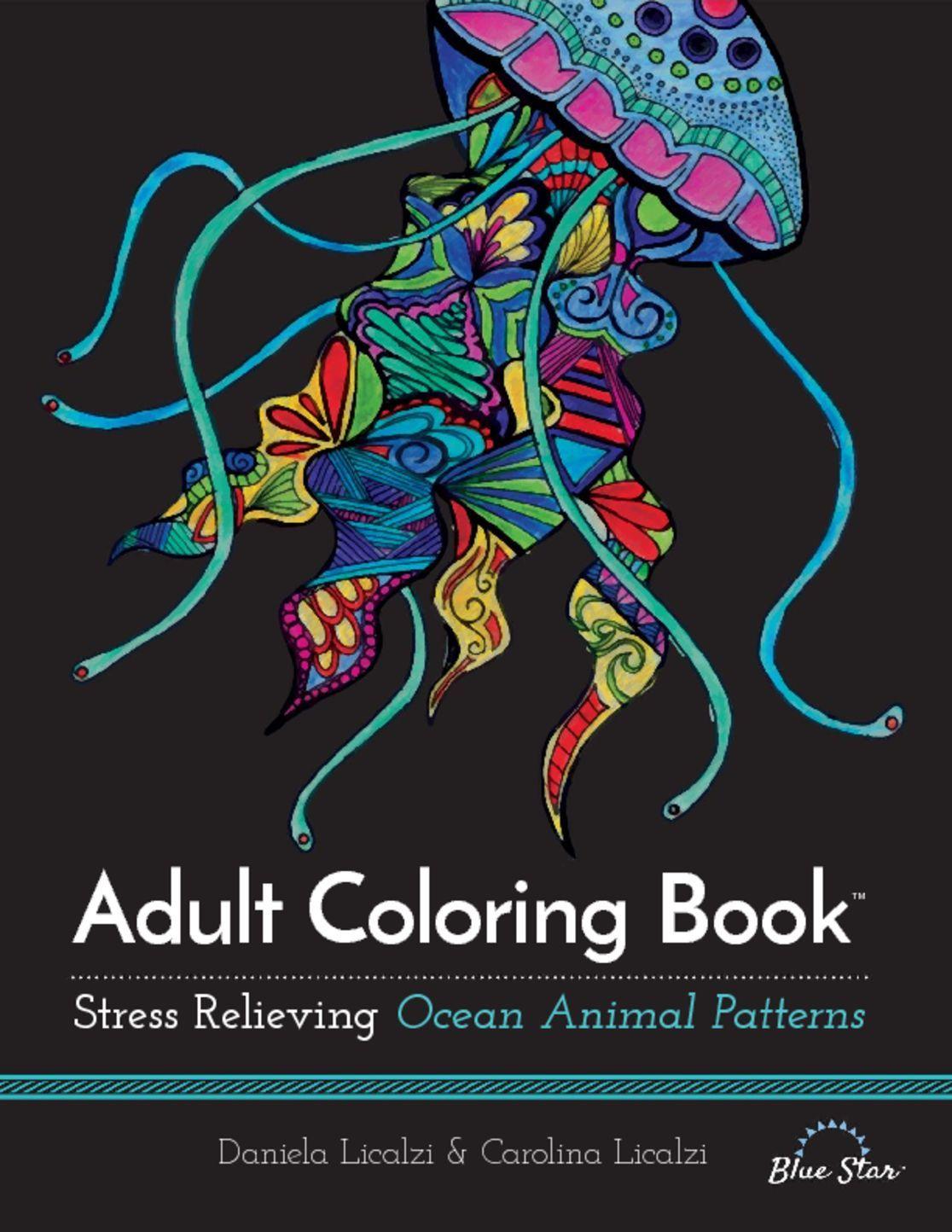 Adult Coloring Book Ocean Animal Patterns Digital