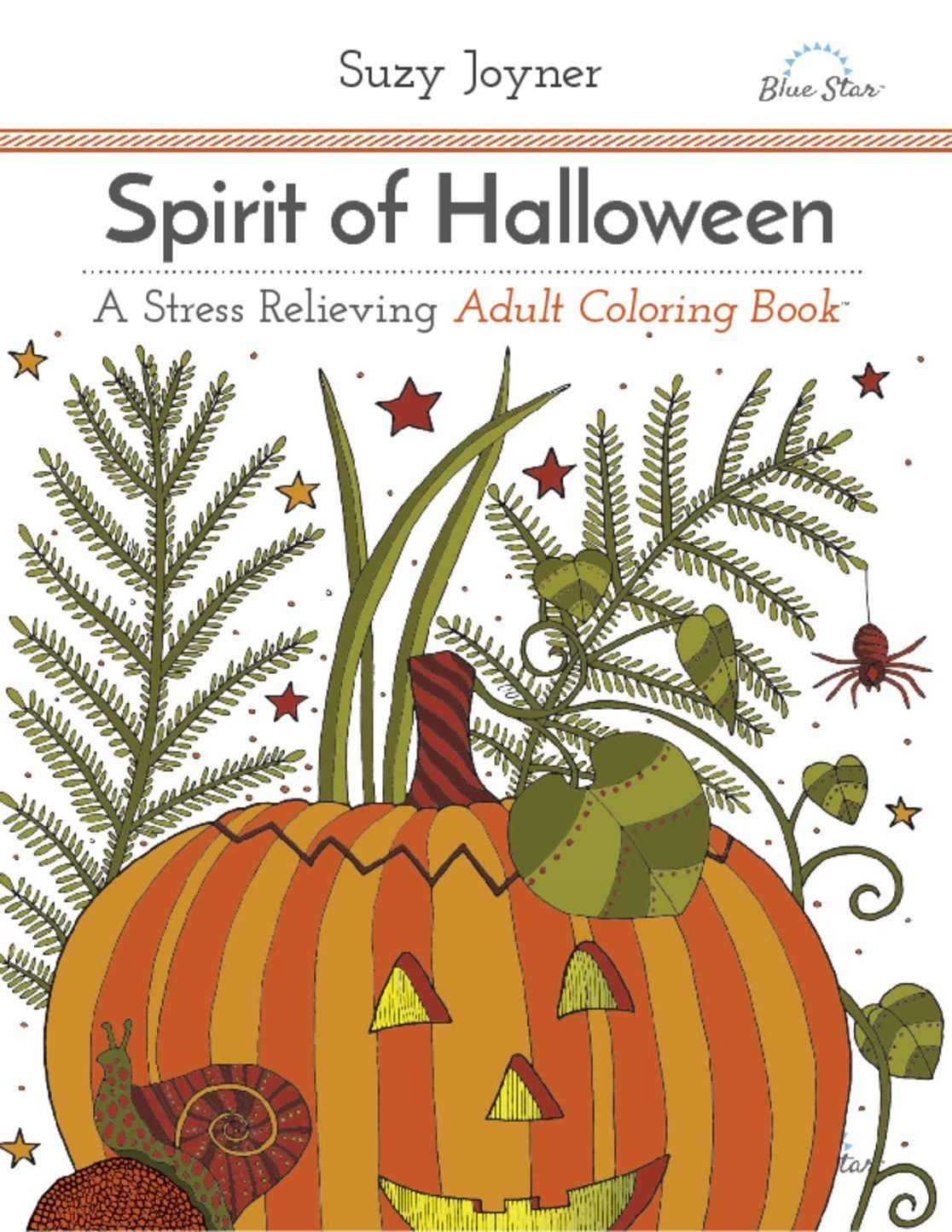 Spirit of Halloween A Stress Relieving Adult Coloring Book Digital