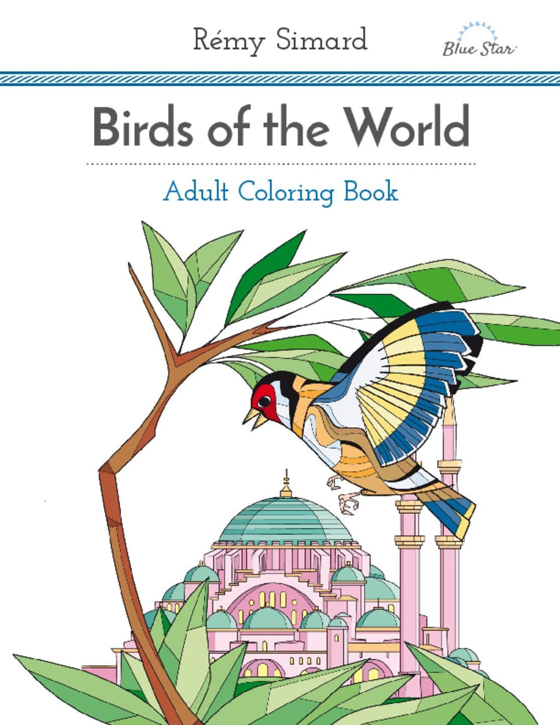 Adult Coloring Book Birds of the World Digital