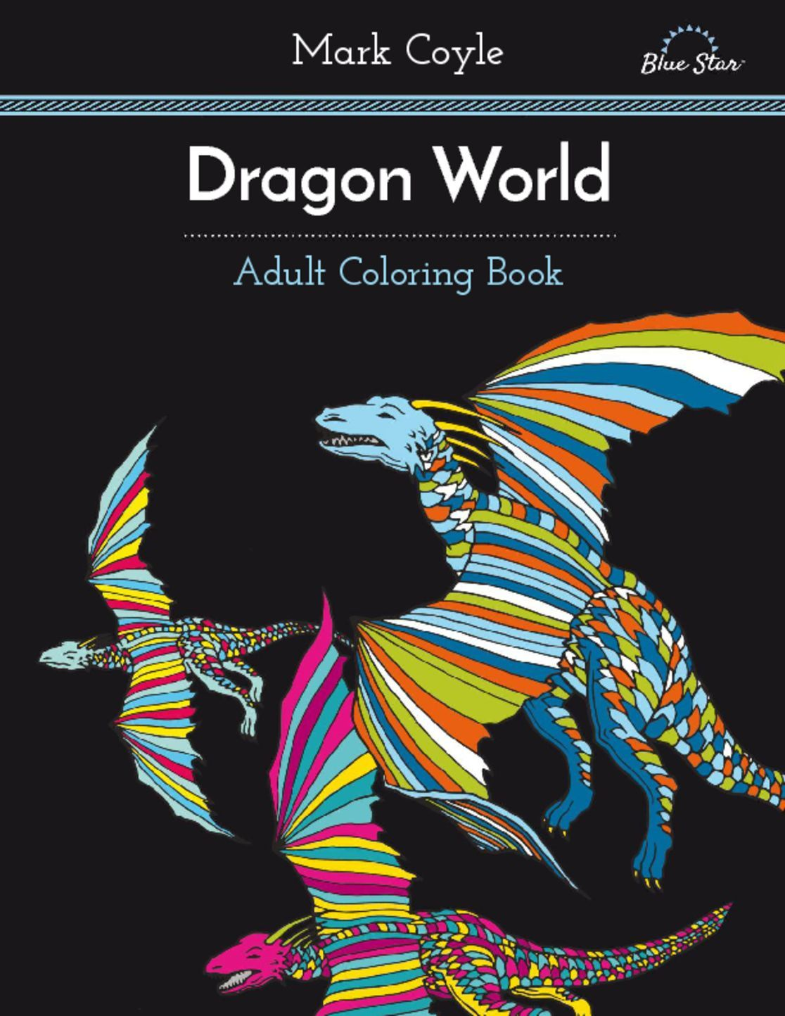 Adult Coloring Book Dragon World Digital