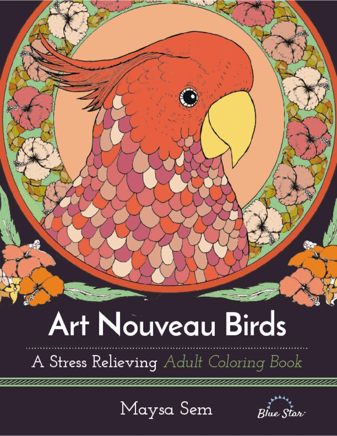 Art Nouveau Brids A Stress Relieving Adult Coloring Book Digital