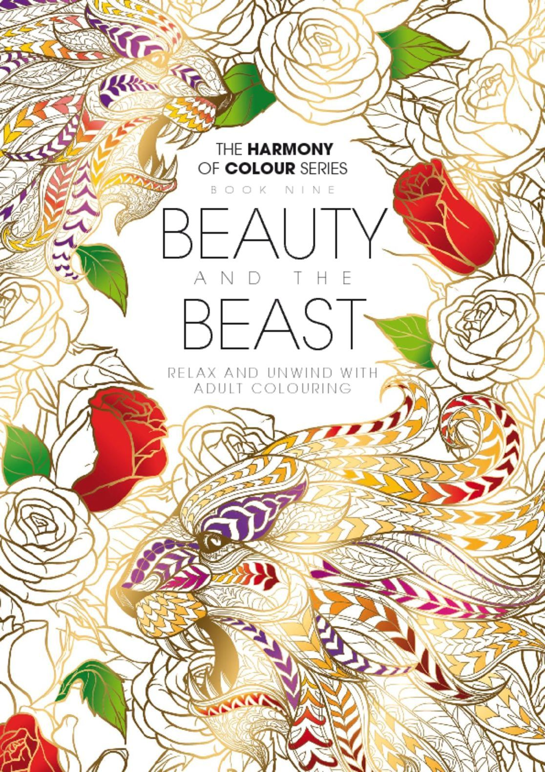 Colouring Book Beauty and the Beast Digital