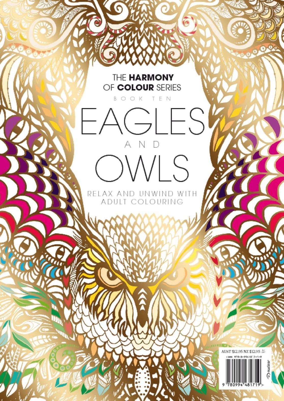 Colouring book eagles and owls digital magazine Coloring book subscription