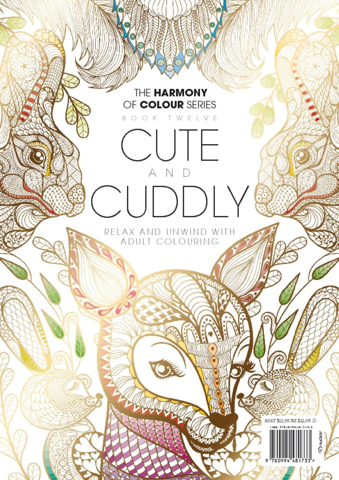 Colouring Book Cute and Cuddly Digital