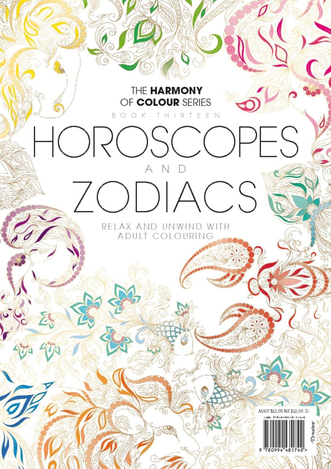 Colouring book horoscopes and zodiacs digital magazine Coloring book subscription