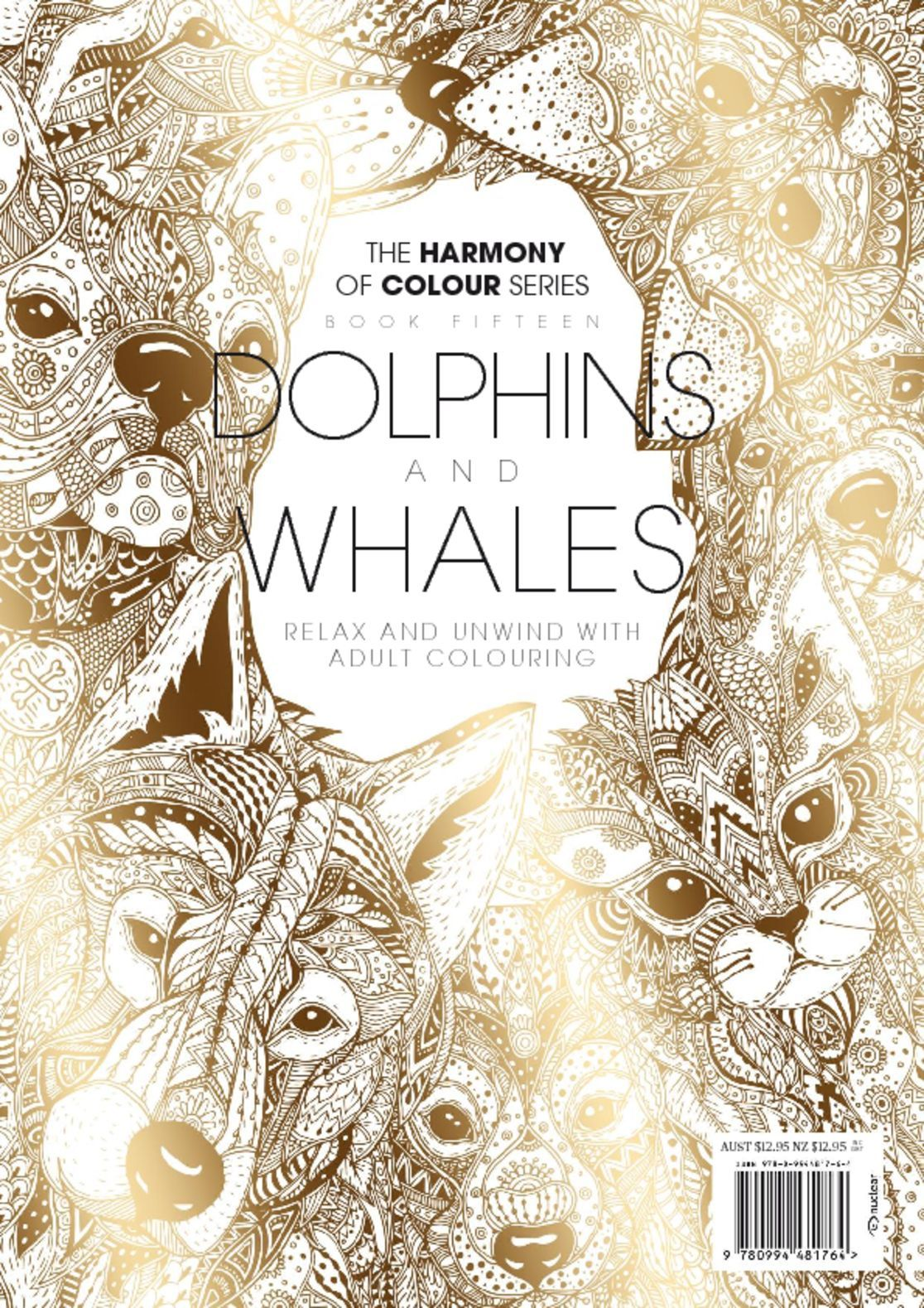 Colouring Book Dolphins and Whales Digital