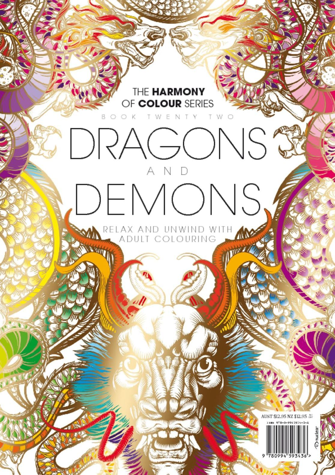 Colouring Book Dragons and Demons Digital