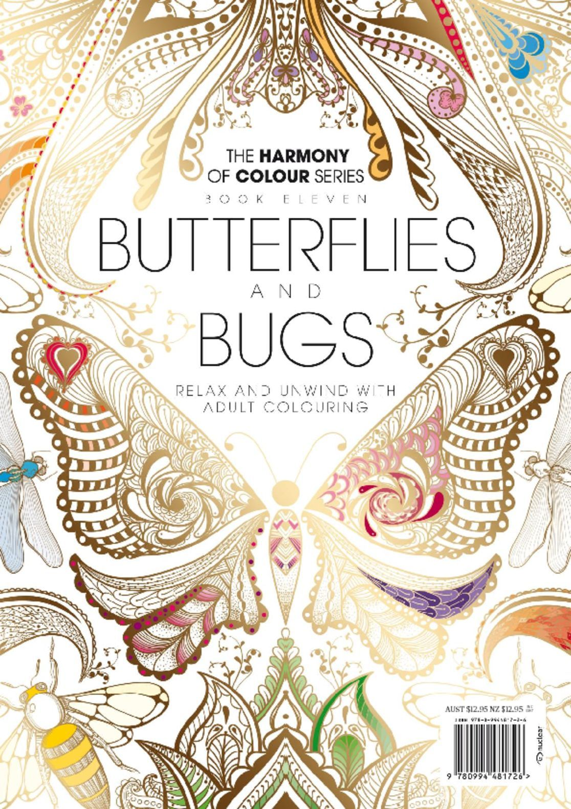 Colouring Book Butterflies and Bugs Digital