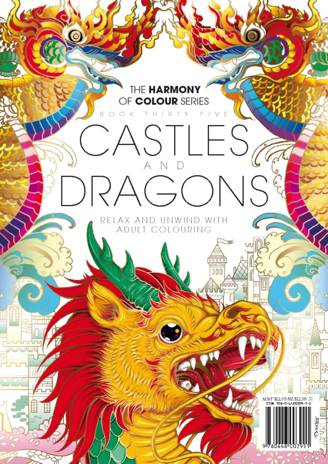 Colouring Book Castles and Dragons Digital