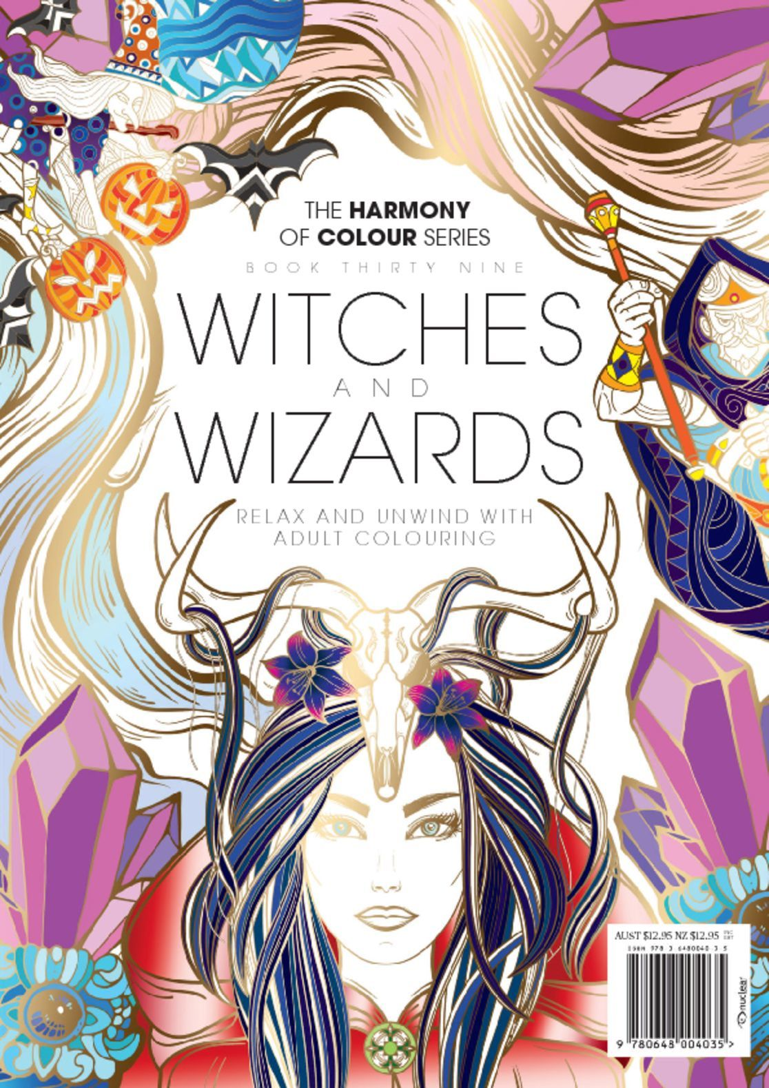 Colouring Book Witches and Wizards Digital