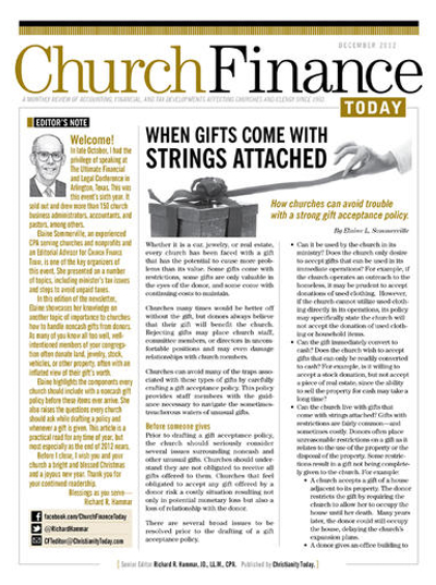 Church Finance Today Magazine Subscription
