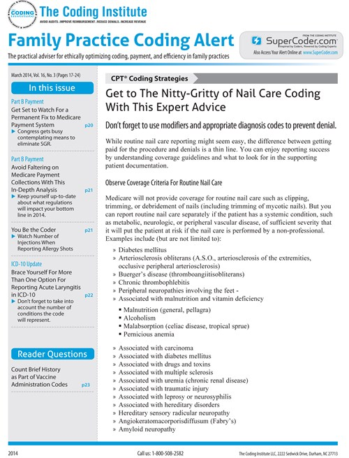 Best Price for Family Practice Coding Alert Subscription