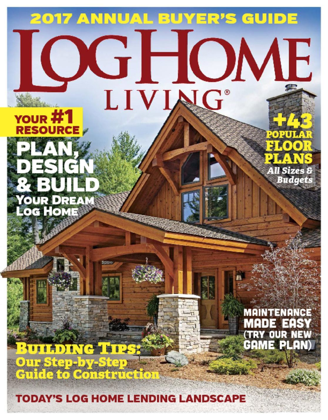 Log home living magazine guide to log homes for Home living magazines