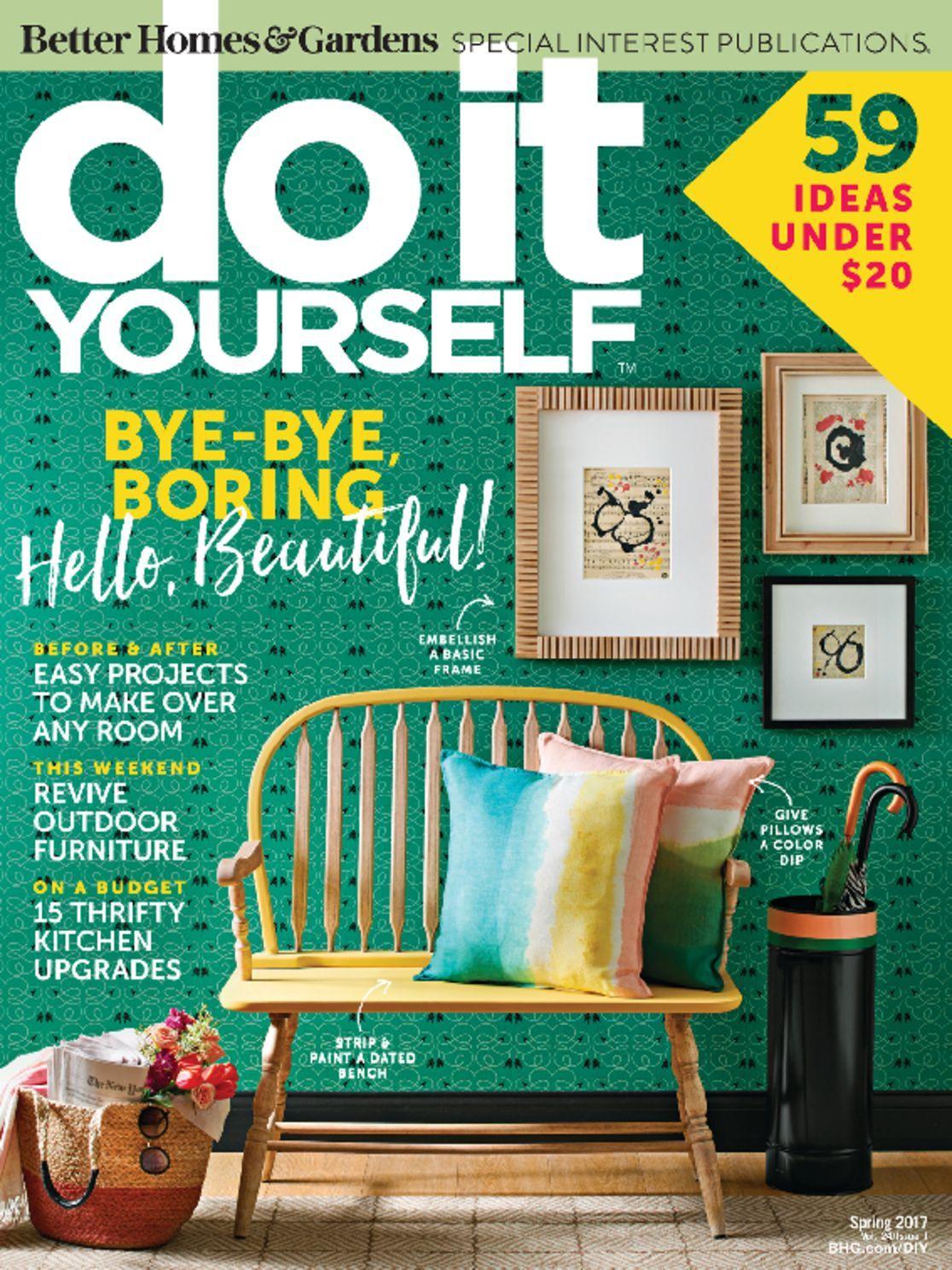 do it yourself magazine. Black Bedroom Furniture Sets. Home Design Ideas