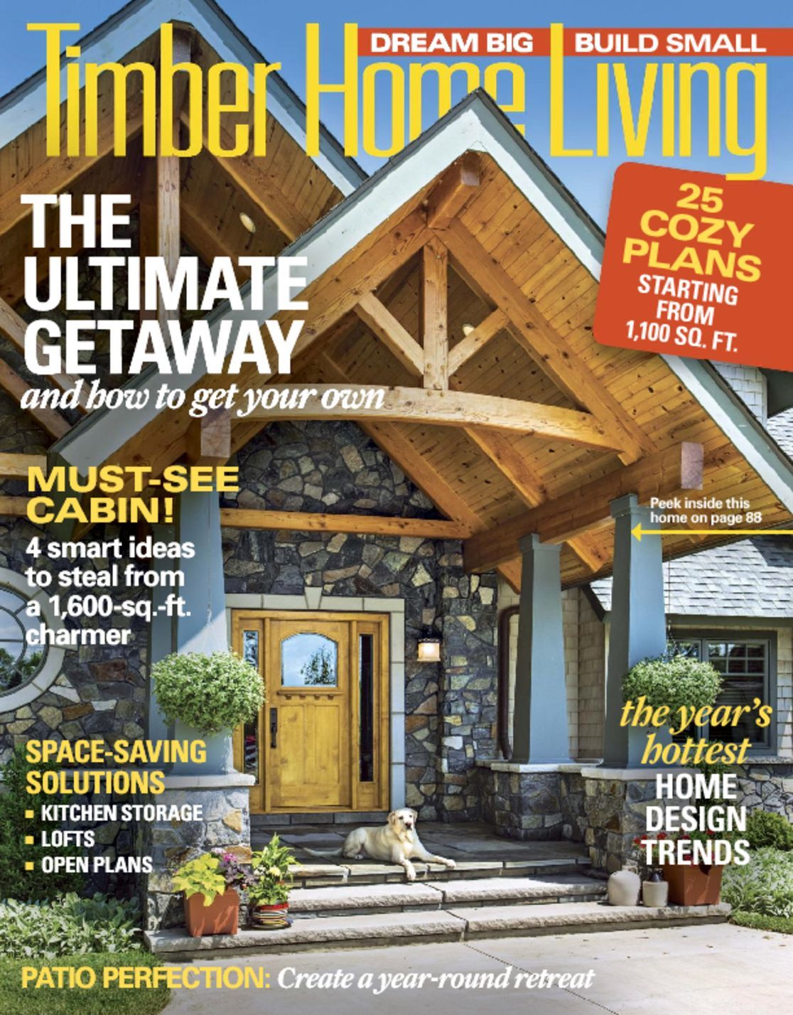 Log home living magazine subscription from compare for Log home magazines