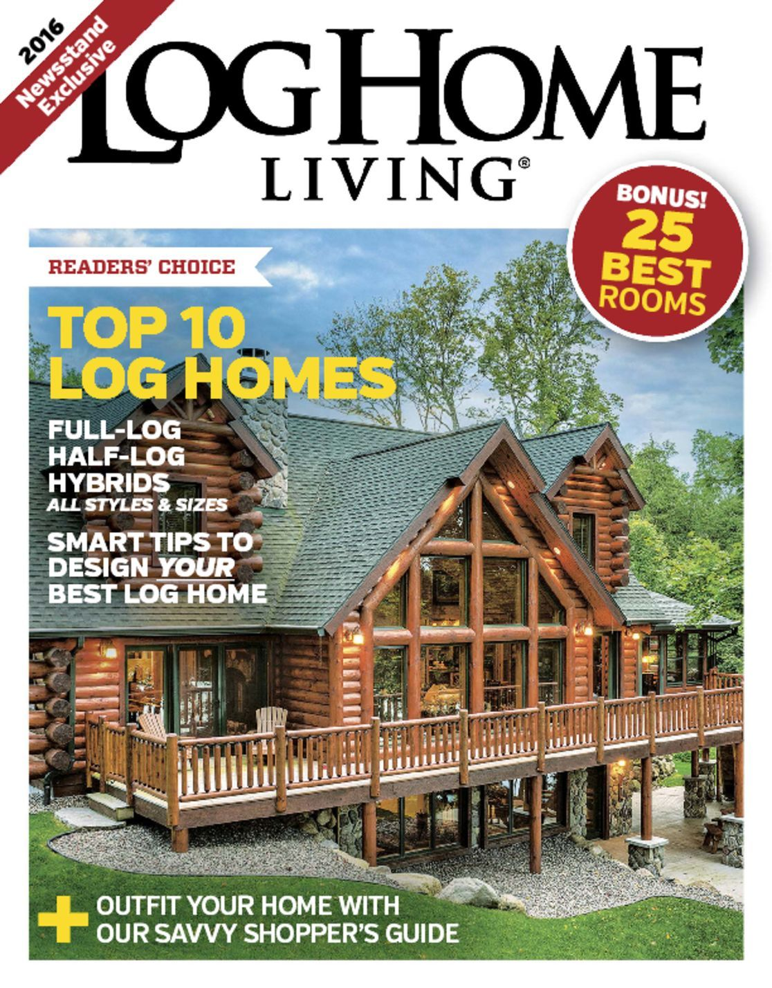 Log home living annual buyers guide magazine digital for Log homes magazine