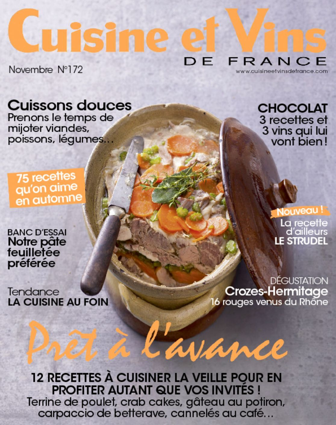 Cuisine et vins de france digital magazine for Abonnement cuisine et vins de france
