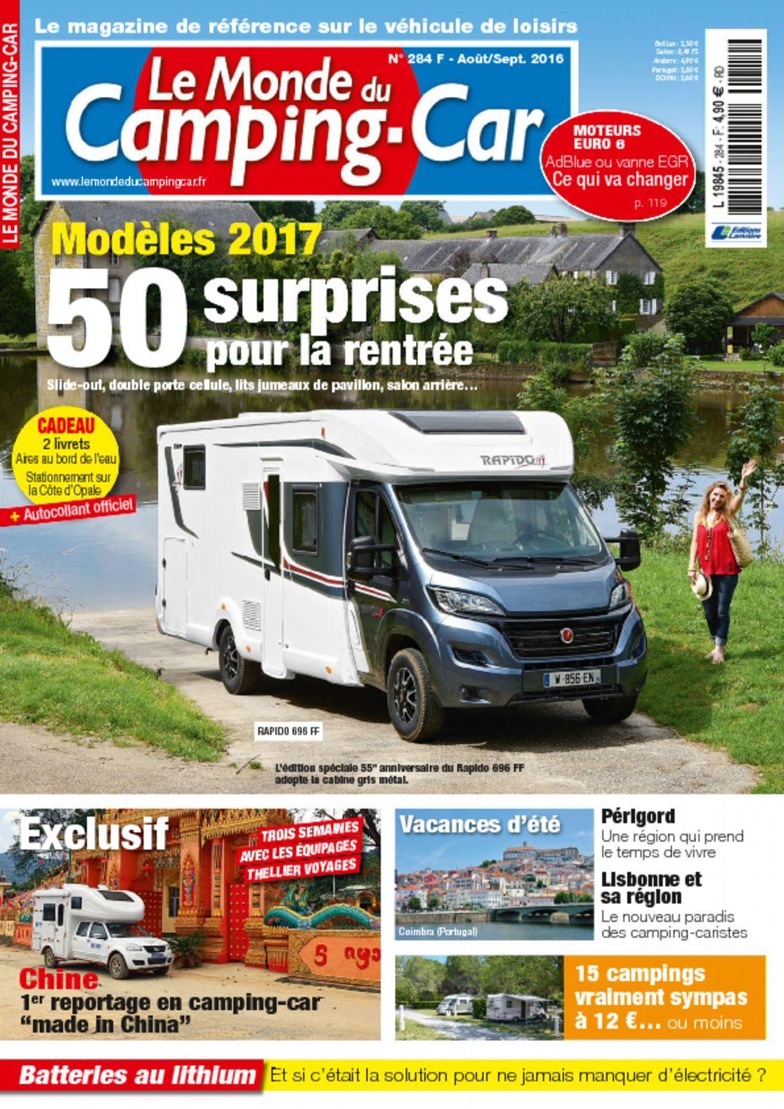 le monde du camping car digital magazine. Black Bedroom Furniture Sets. Home Design Ideas