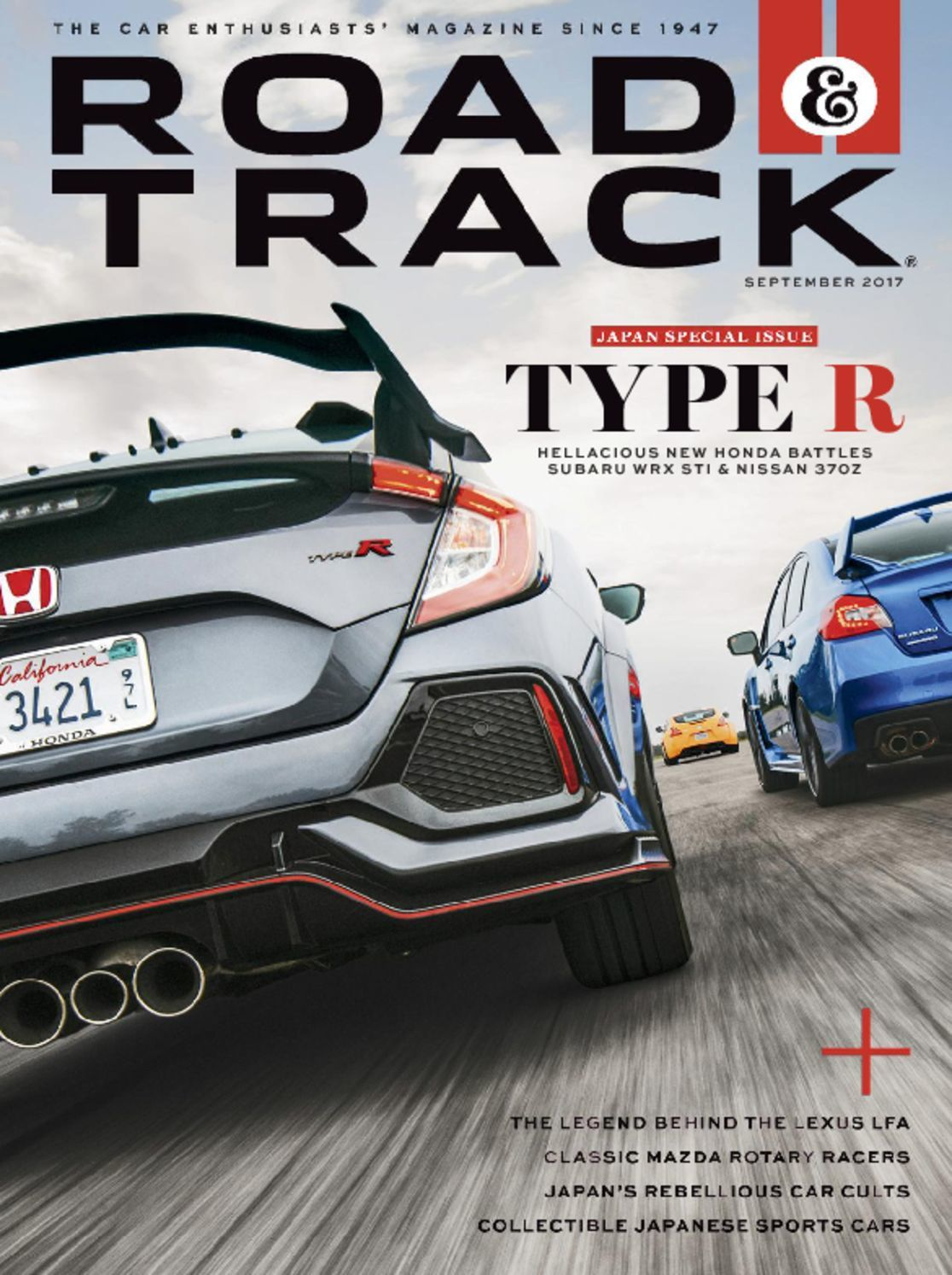 Road and Track Magazine - Type R Edition-September 2017 (Vol. 69/No. 2) - Like New