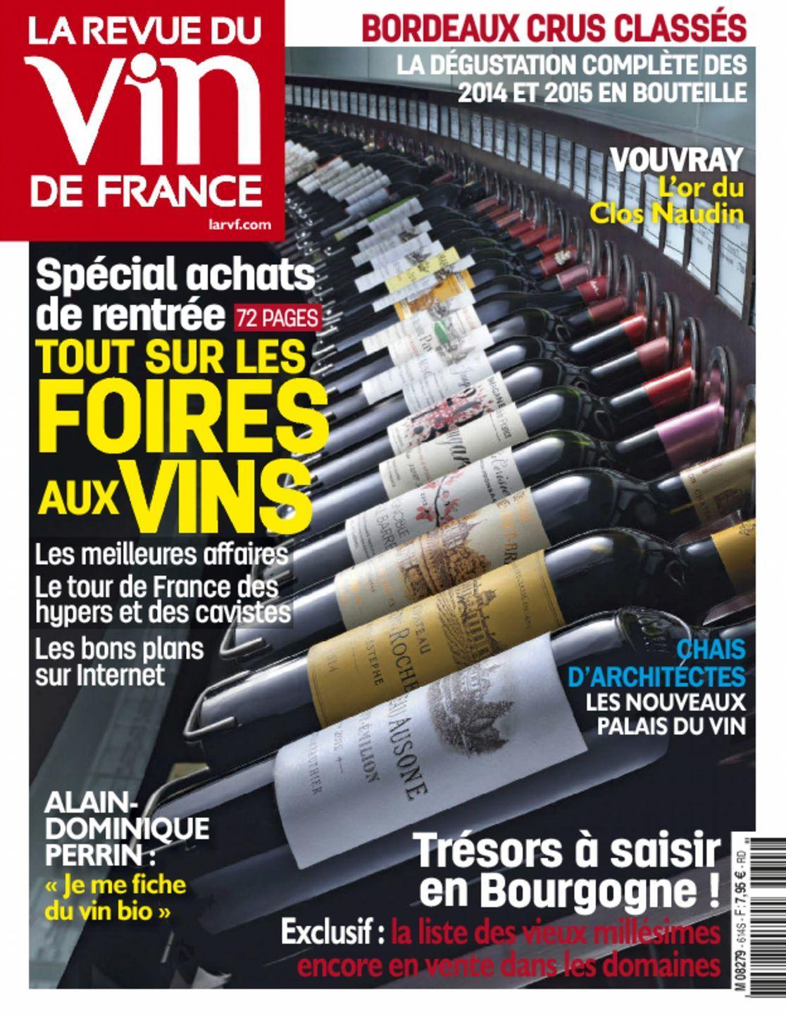La revue du vin de france digital magazine subscription ca for Revue des vins de france
