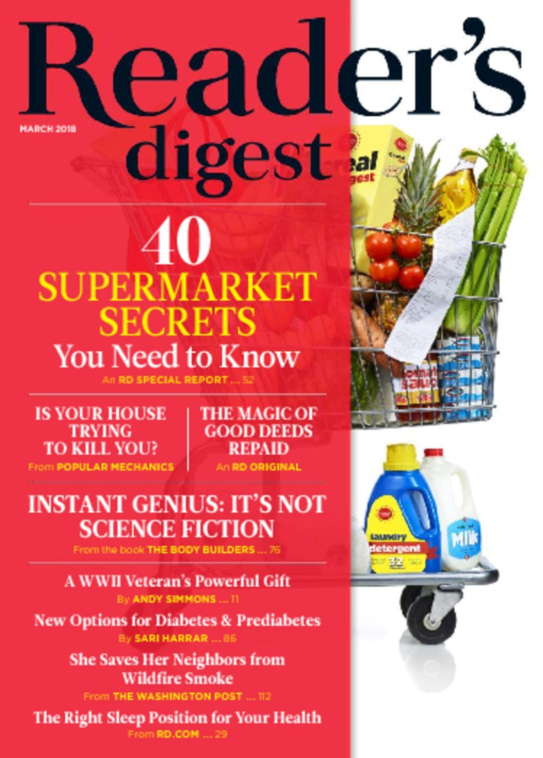 The Readers Digest Magazine in its British edition is an all round magazine for the urban woman. Get the most gripping features on relationships and careers, with expanded reporting on fashion and beauty, health and fitness, published with glamour and guts.