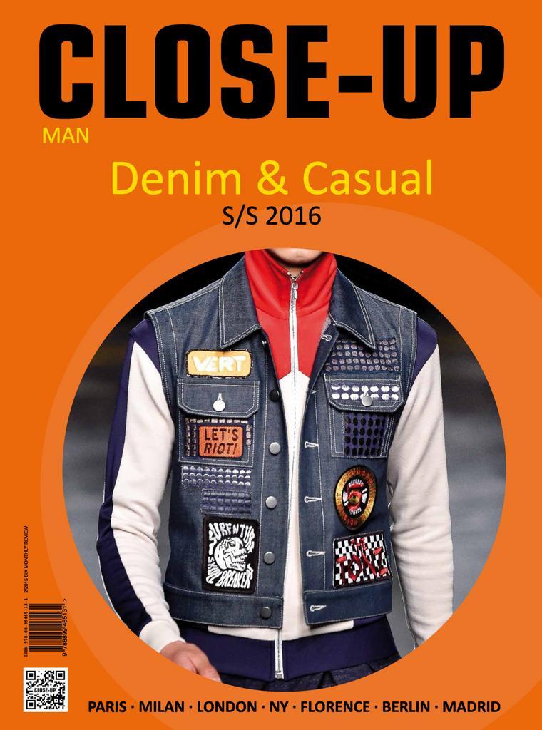 Close up Denim Casual Man Digital