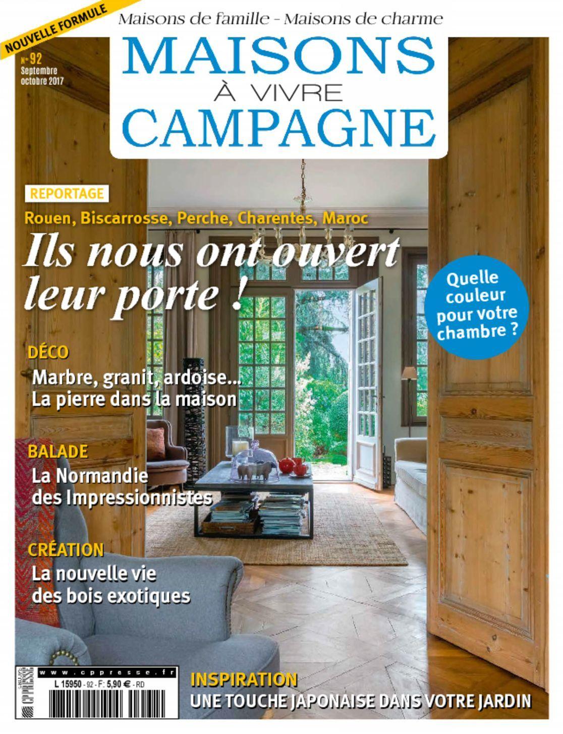 maisons vivre campagne magazine digital. Black Bedroom Furniture Sets. Home Design Ideas
