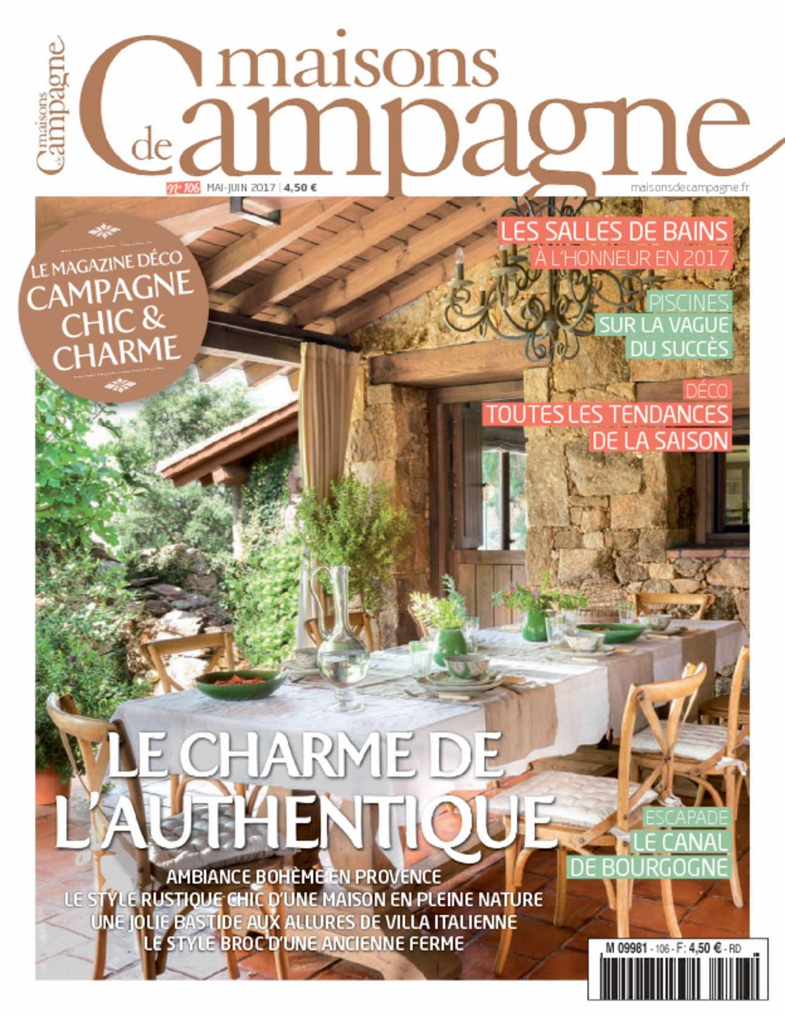 maisons de campagne magazine digital. Black Bedroom Furniture Sets. Home Design Ideas