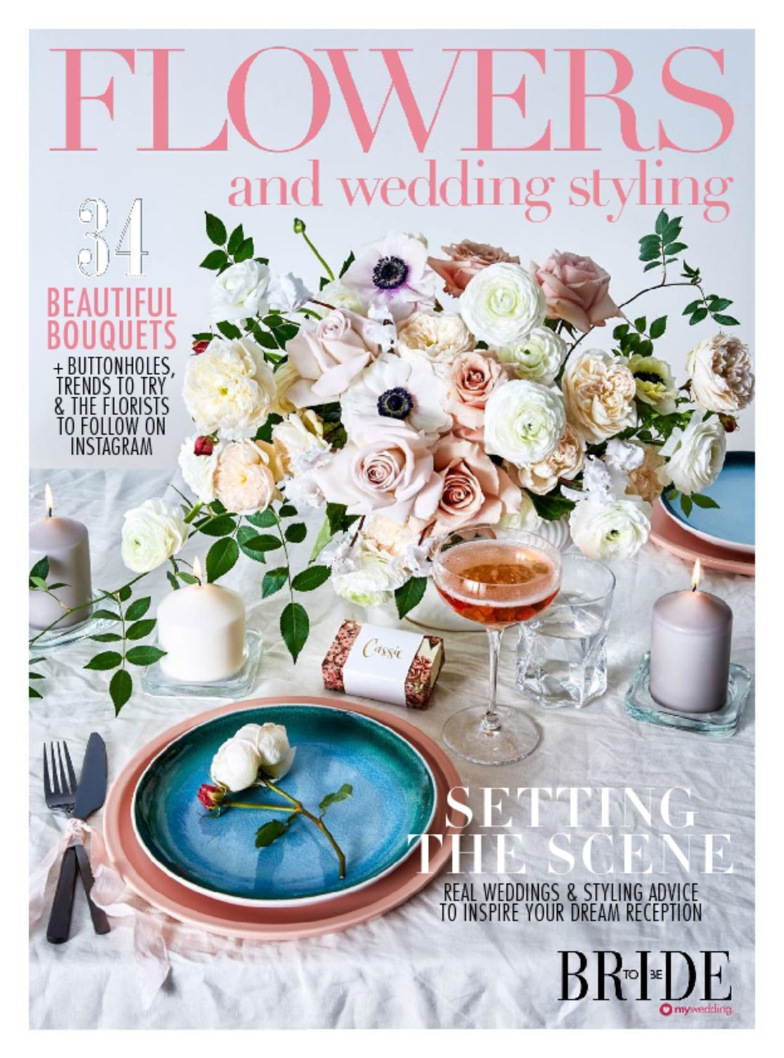 Bride To Be Flowers Wedding Styling Digital