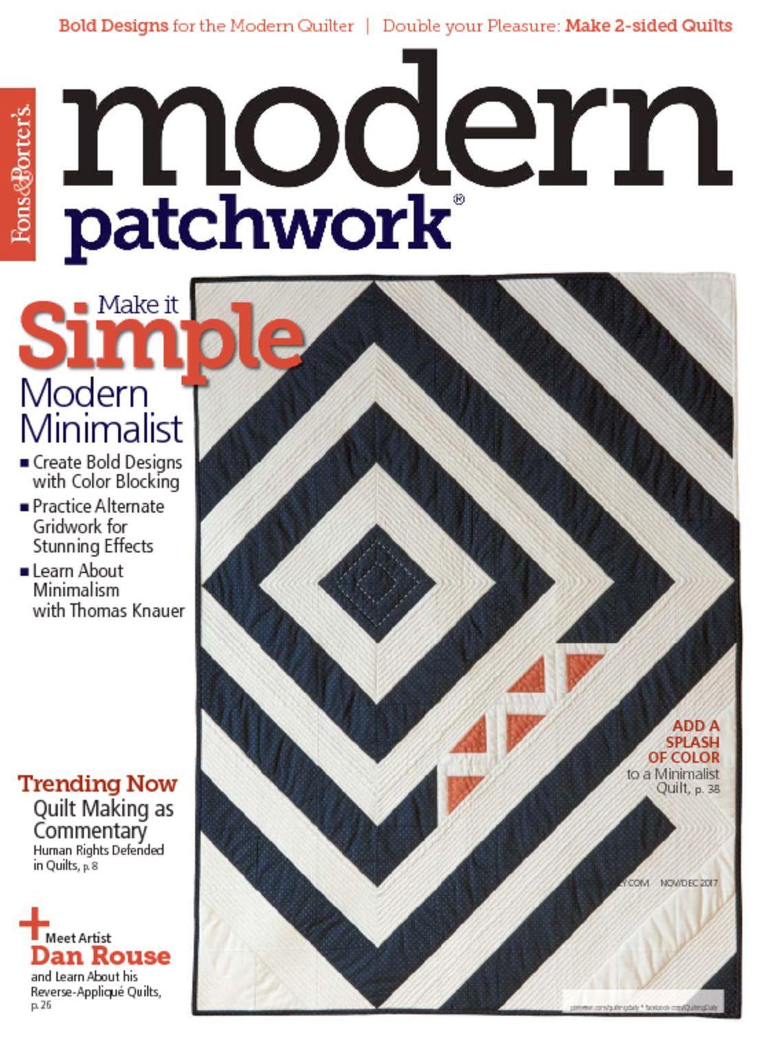 Modern Patchwork Magazine Digital Discountmags Com