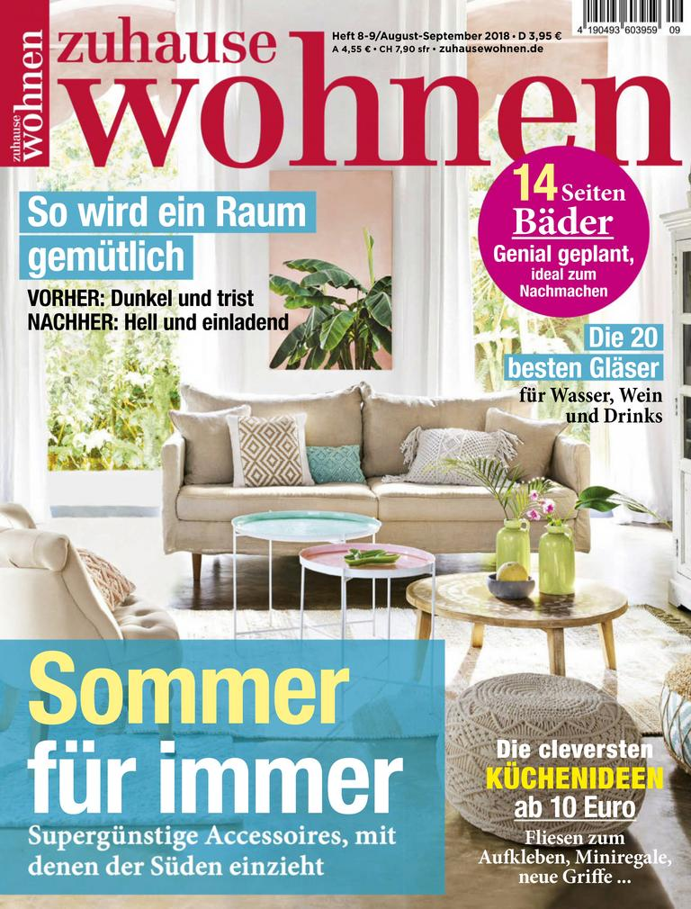 zuhause wohnen digital magazine subscription ca. Black Bedroom Furniture Sets. Home Design Ideas