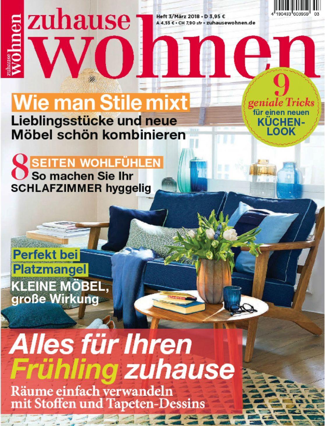 zuhause wohnen magazine digital. Black Bedroom Furniture Sets. Home Design Ideas