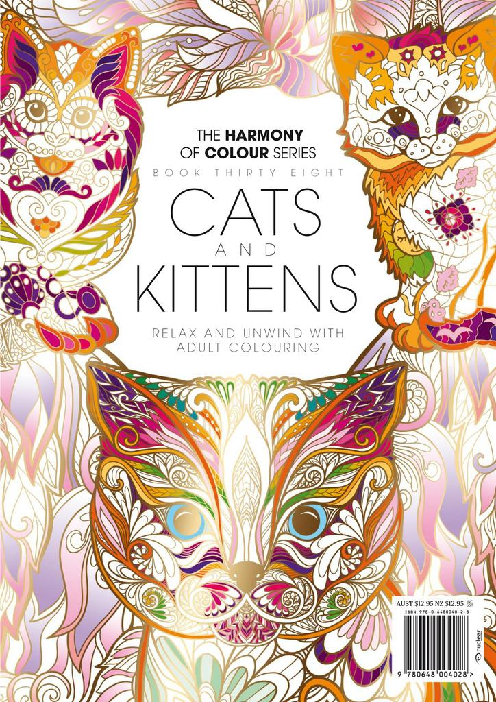 Colouring Book Cats and Kittens Digital
