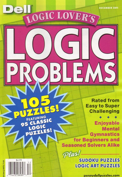Logic Lovers Logic Problems Magazine Subscription