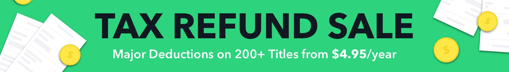 Tax Refund Sale 2018